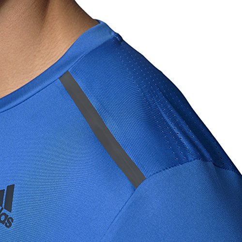 adidas Herren Cool 365 T-Shirt, Blue/White/Power Red Blue