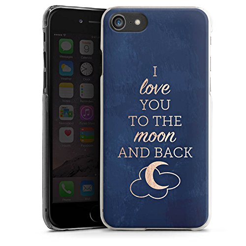 Apple iPhone X Silikon Hülle Case Schutzhülle Sprüche Moon I Love You Love Hard Case transparent