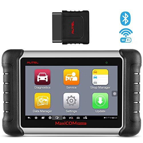 Autel MaxiCOM® MK808BT Strumento Diagnostica Auto Bluetooth OBD2 Scanner con Bleed dei Freni, TPMS, Reset Olio, EPB, SAS, BMS, Dpf, IMMO - Versione Aggiornata di MK808
