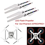 Wokee 2 Paar LED Licht Blitz Propeller USB Lade Für DJI Phantom 4 Pro Pro + Drone
