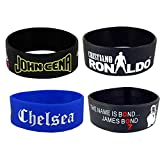 eshoppee ronaldo cr7 cristiano john cena the wrestler james bond chelsea silicone wrist band bracelets for man and women