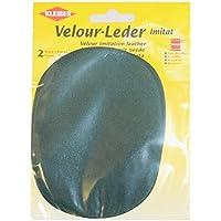 Kleiber - Rodilleras/coderas ovaladas de antelina, para coserlas, 12,5 x 10 cm, color verde pátina
