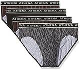 Athena Tonic, Slip Homme, Multicolore (Rouge/Gris/Noir/Rouge 0650), X-Large (Taille Fabricant: 5) (lot de 4)