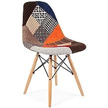 Sillatea Silla Tow Wood - tapizado Patchwork fa6a8a53b043