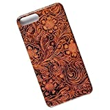 Slim Case for iPhone 7 Plus, 8 Plus. Tasche Cover. Tooled Leather Look.