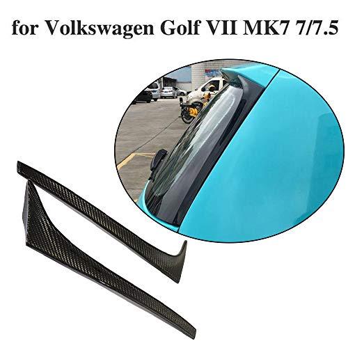 JCSPORTLINE für Golf 7 7.5 MK7 MK7.5 Base Hatchback 3Door 5Door 2014-2019 Carbon Fiber Heckspoiler Seiten Heck Spoiler Flügel