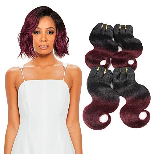 Remy Echthaar Extensions Human Hair - ORANGE STAR 8a Brazilian virgin hair 1b 99J burgund brasilianisches haarverlängerungen echthaar extensions echte haare 4pcs/lot 8