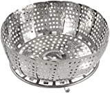 Stainless Steel Folding Mesh Holes Steam Basket Cooker
