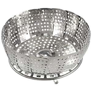 SODIAL(R) Panier pliable de maille en acier a cuire les aliments a la vapeur