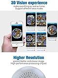 16GB WIFI Bombilla Cámara, AGPTEK Cámara Bombilla de luz doméstica y Seguridad para Android IOS...