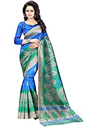 Macube Women's Latest Multi-Color Designer German Silk Sarees New Collection 2017 Today Low Price Saree With Blouse...