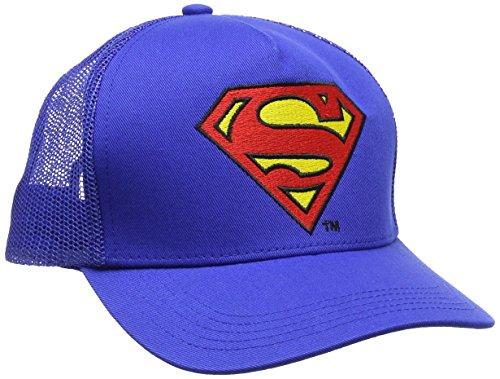 Superman Unisex Baseball Cap Logo-Kids, Blue (Azure Blue), One size