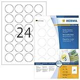 2.400 HERMA 4476 Etiketten / weiß / rund 40,0 mm / wieder ablösbar