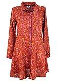 Guru-Shop Blusenkleid, Boho Tunika, Damen, Rostrot, Synthetisch, Size:S/M (36), Kurze Kleider Alternative Bekleidung