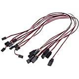 Goolsky 10Pcs 500mm 50cm Servo Extension Lead Wire Cable For Futaba JR Servo Part (Servo Extension Lead Wire Cable)