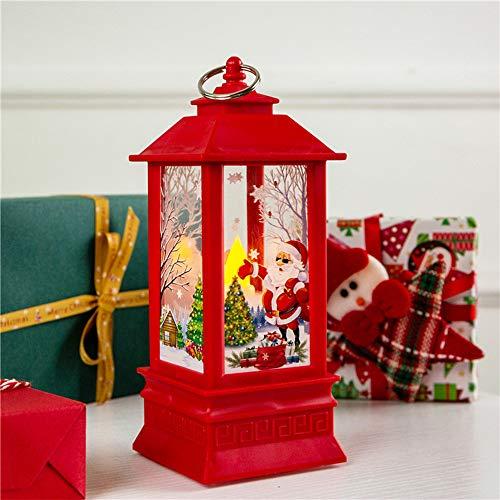 Wankd - Velas de Navidad con luz LED para decoración navideña, diseño de Velas, Roter Weihnachtsmann, 7.8 * 7.8 * 19.5cm
