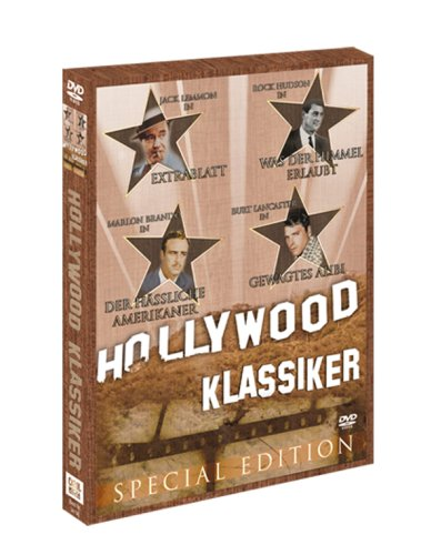 Hollywood Klassiker (Holzbox) - Extrablatt / Was der Himmel erlaubt / Gewagtes Alibi / Der häßliche Amerikaner [2 DVDs]