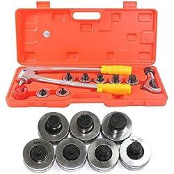 10mm-28mm Dilatation de tuyau en cuivre d'extension de tube Unités métriques, Tube Expander Tool Kit Plumbing Air Conditioner Copper Pipe Expander Cutter + Case