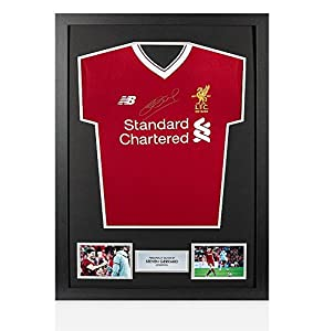 Framed Steven Gerrard Silver Front Signed Liverpool Shirt - Home, 2017/2018 from A1 Sporting Memorabilia