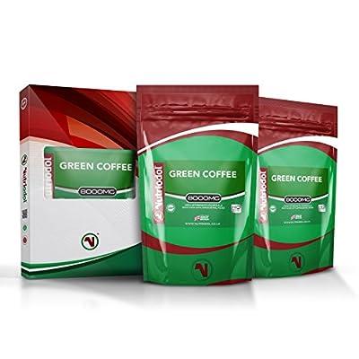 8000MG GREEN COFFEE BEAN EXTRACT | 240 (2x120) Vegetarian Tablets | 50% CGA Chlorogenic Acid. from Nutriodol