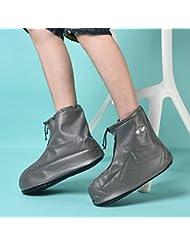 HHBO Zapatillas impermeables reutilizables de la cubierta de la lluvia , blue xl