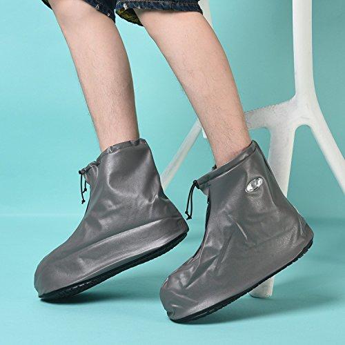 HHBO Riutilizzabile impermeabile pioggia scarpe copertina Copriscarpe pioggia Gear , blue xl gray xl
