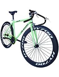 Helliot Bikes Fixie Brooklyn H36 - Bicicleta deportiva, color verde, talla S / M