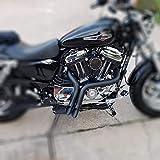 JFG RACING 2 Zoll schwarz LAF Drag Auspuffrohre für Harley-Davidson Sportster, Bagger, Softails und Zoll