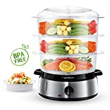 Aigostar Fitfoodie 30KHM - Electric Food Steamer, 800W, 3-Tier 9 L Capacity, 60-Minute