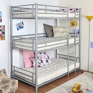 Trios 3-Level Bunk Bed - 90x 190cm