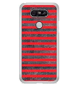 Red Lines Pattern 2D Hard Polycarbonate Designer Back Case Cover for LG G5 :: LG G5 Dual H860N :: LG G5 Speed H858 H850 VS987 H820 LS992 H830 US992