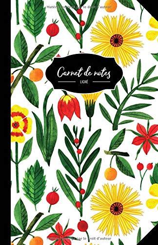 Carnet De Notes: 108 Pages Avec Papier Ligné - Petit Format A5 - Couverture Souple Et Mate -Blanc Jaune Rouge Vert