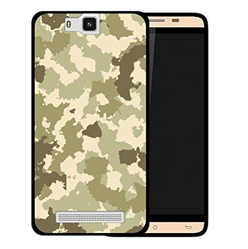 WoowCase Cubot H2 Hülle, Handyhülle Silikon für [ Cubot H2 ] Grüne Militärtarnung Handytasche Handy Cover Case Schutzhülle Flexible TPU - Schwarz