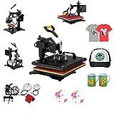 BananaB Transferpresse 5 in 1 30X38cm Heat Press Machine Tassenpressen Heißpresse T-Shirt Hut