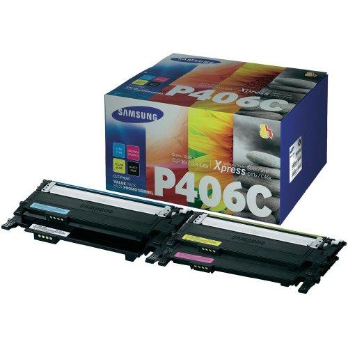 Toner Conf. Combi Samsung CLT-P406C Originale CLT-P406CELS Nero, Ciano, Magenta, Giallo 1500 pagine