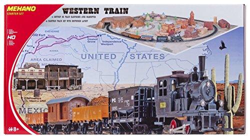 Mehano T109 -Western Train with layout - Set Trenino Elettrico in Scala H0 con Plastico del Paesaggio 'Western'.