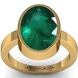 jaipurforyou Certified Panna (Emerald) 10.00cts or 11.25 ratti panchdhatu ring