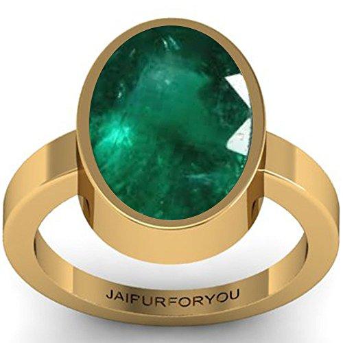 Voyllaa jaipurforyou Certified Panna (Emerald) 4.70cts or 5.25 ratti panchdhatu ring