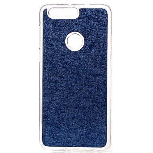 KM-WEN® Schutzhülle für Apple iPhone 7 Plus (5,5 Zoll) Bookstyle Labyrinth Muster Tri-faltbar und TPU Einzeln Verwendet Magnetverschluss PU Leder Flip Cover Hülle Tasche Schutzhülle mit Wallet Case Ka Blau