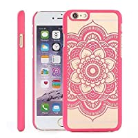 iCHOOSE Hot Pink Mandala Floral Dream Catcher Case for iPhone 5 5S / Colour Paisley Hard Cover / Free Screen Protector & Cloth / Cases Covers and Accessories for Apple iPhone 5 5S