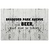 Beer what else is there Bradford Park Avenue vintage decorative wall plaque - ready to hang
