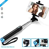 #5: ZAAP® (USA)NUSTAR2 Bluetooth Super-Extendable Premium Stainless steel Selfie Stick with In-built Remote Shutter | 2000+ clicks per charge | For iPhone, Andriod, Gopro & other Smartphones