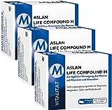 ASLAN Life Compound M, 3 x 60 Kapseln, nur 22  pro Packung – Multi-Vitamin / Mineralstoff-Kapseln, Vitamin Komplex für den Mann, Energie, Leistungskraft, Nervensystem, Immunsystem, Selen für die Spermabildung, Kürbiskernöl, Nahrungsergänzung Mann Gesundheit, Nahrungsergänzungsmittel