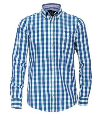 CASAMODA Herren Regular Fit Freizeithemd 441904800/300, Gr. Kragenweite: 38 cm (Herstellergröße: S), Grün