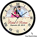 Huppme Personalized Roman Love Wall Clock, , Gifts For Her, Gifts For Him, Gifts For Couple, Love Gifts, Valentine Gifts, Karvachauth Gifts, Gifts For Husband, Gifts For Wife, Gifts For Fiance, Girlfriend Gifts, Gifts For Boyfriend, Valentine Gifts , Roma