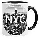Autiga Tasse mit New York City Fotoprint Manhattan Rockefeller Center NYC schwarz Unisize