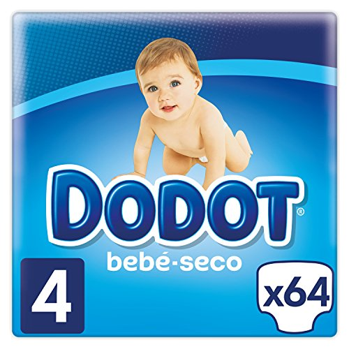 Dodot Bebé-Seco Pañales Talla 4, 64 Pañales, el unico Pañal con canales de Aire, 9-14 kg