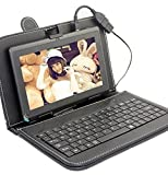 IKALL N8(1GB+4GB) 3G+Wifi Calling Tablet With Keyboard Cover - Black