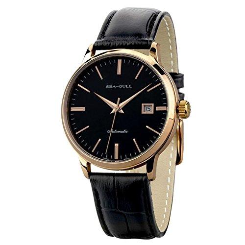 Sea-gull® Tempo libero meccanico automatico orologio da polso impermeabile in vera pelle con Roma Digital Business per varie occasioni D519.101.M