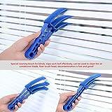 Nettoyeur de poussière de brosse de fenêtre aveugle avec 4 manches pour le climatiseur Stores de fenêtre Stores Volet de jalousie (bras long de 8 pouces)